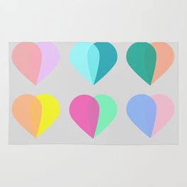 many hearts Rug