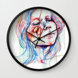 Fly in dream Wall Clock