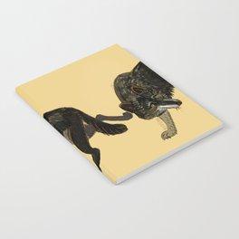 Black wolf totem (Canis lupus nubilus) (c) 2017 Notebook