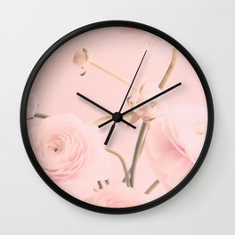 Floral Nursery Ranunculus Wall Clock