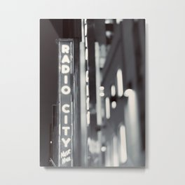 Bright Light In The City Metal Print