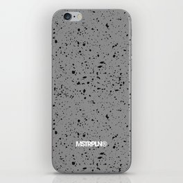 Retro Speckle Print - Grey iPhone Skin