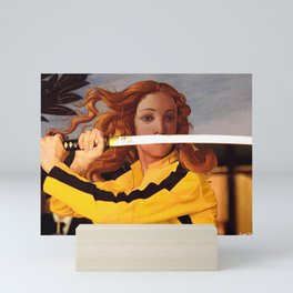 Botticelli's Venus & Beatrix Kiddo in Kill Bill Mini Art Print