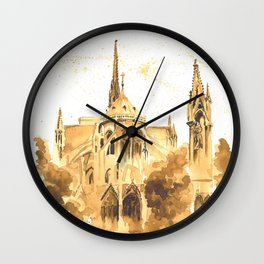 Gothic Notre Dame Wall Clock