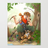 camp Canvas Prints featuring camp by Fargon