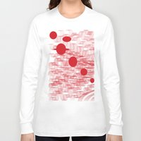 planets Long Sleeve T-shirts featuring red planets by Loosso