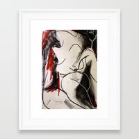 chameleon Framed Art Prints featuring Chameleon by Helen Syron