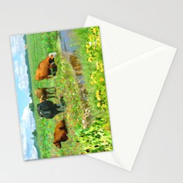 Dutch landscape with cows Stationery Cards
