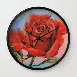 Rose Painting Wall Clock