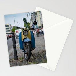 vintage motorbike Stationery Cards