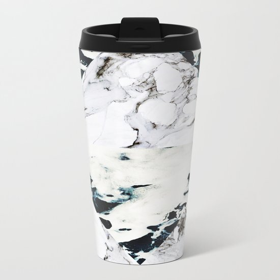 Ocean + Marble Metal Travel Mug