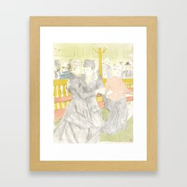 """Henri de Toulouse-Lautrec """"Two Woman Dancing"""" Framed Art Print"""