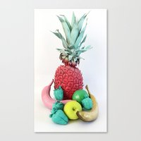 fruits Canvas Prints featuring Fruits by Luna Portnoi