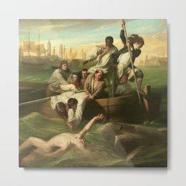 Classical Masterpiece 'Watson and the Shark' by John Singleton Copley Metal Print