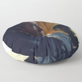 Nixon Seated in the Oval Office Floor Pillow