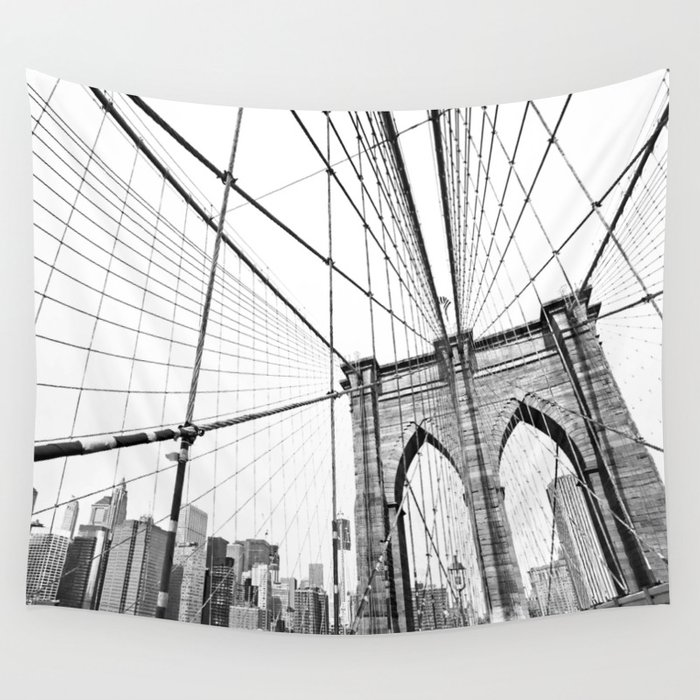 Brooklyn Bridge Wall Tapestry by archidesign | Society6