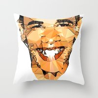 obama Throw Pillows featuring ICONS: Obama by LeeandPeoples