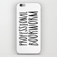 bookworm iPhone & iPod Skins featuring Professional bookworm by bookwormboutique