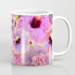 Tropical hibiscus patterns Flower Floral Flowers Coffee Mug