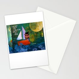 OWL and Pussycat Went to SEA Stationery Cards