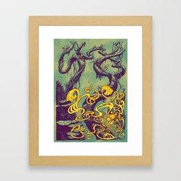 Epiphycadia III: Teal Framed Art Print
