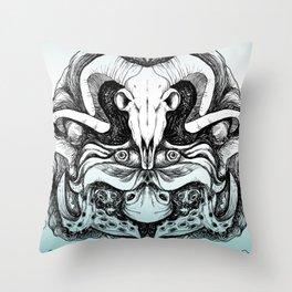 Skull Composition Throw Pillow