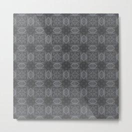 Sharkskin Geometric Floral Metal Print