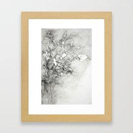 Left vase of iris Framed Art Print