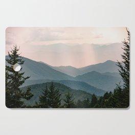 Smoky Mountain Pastel Sunset Cutting Board