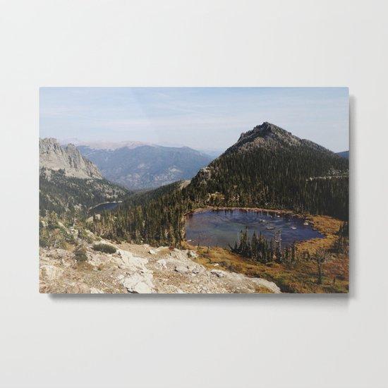 Rocky Mountain Lakes Metal Print