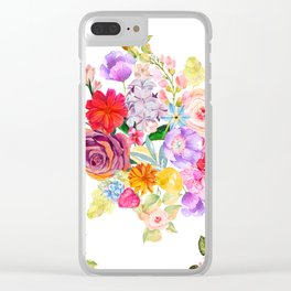 Summer Bouquet with Fruit and Flowers Clear iPhone Case
