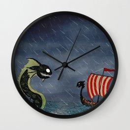 Sea Serpent & Viking Longboat Wall Clock