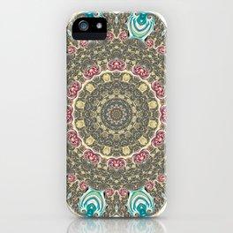 Incandescent Fractal Mandala iPhone Case