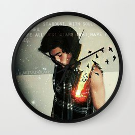 Souls made of flames Wall Clock