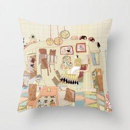 ---garden--cafe--- Throw Pillow