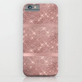 Rose Gold Sparkles iPhone Case