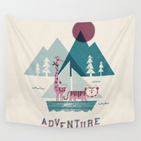 adventure Wall Tapestries featuring Adventure by Jenny Tiffany