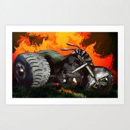 Steampunk Trike Motorcycle Art Print