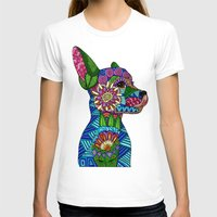 folk T-shirts featuring Folk Art Puppy by ArtLovePassion