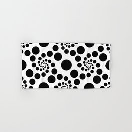 Optical Illusion Dot Spirals Hand & Bath Towel