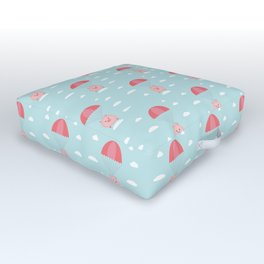 Baby Pig in a Parachute Outdoor Floor Cushion