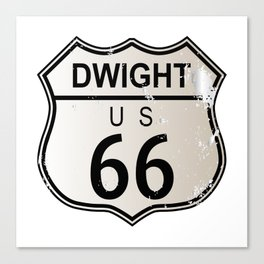 Dwight Route 66 Canvas Print