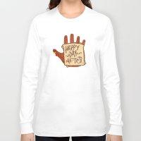 turkey Long Sleeve T-shirts featuring TURKEY SAMMIDGES by Josh LaFayette