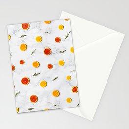orange slices pattern Stationery Cards