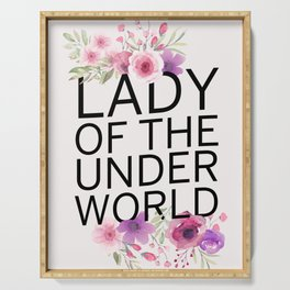 Lady Of The Underworld Serving Tray