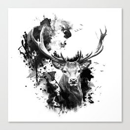 Once upon a Stag Canvas Print