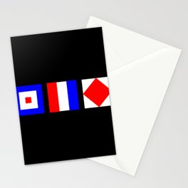 WTF What The Fuck Nautical Signal Flags Stationery Cards