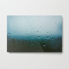 teardrops of rain Metal Print