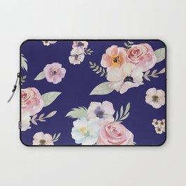 Floral I - Navy Blue Laptop Sleeve