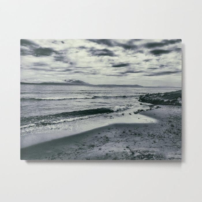 Dramatic view of the beach, the sea and the waves. Metal Print
